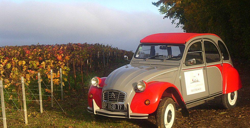 visiter Reims en 2CV Citroën à deux pas de Paris