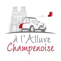 A l'Allure champenoise pour visiter Reims en Champagne en 2cv