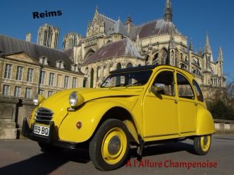 visiter Reims en 2CV les jours de la semaine, tourisme Champagne en 2CV , A l'Allure Champenoise, re re, la visite, office tourisme, voyage Reims en fin de semaine